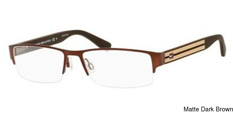 8e6fc955bb Tommy Hilfiger 1236 Semi Rimless   Half Frame Prescription Eyeglasses