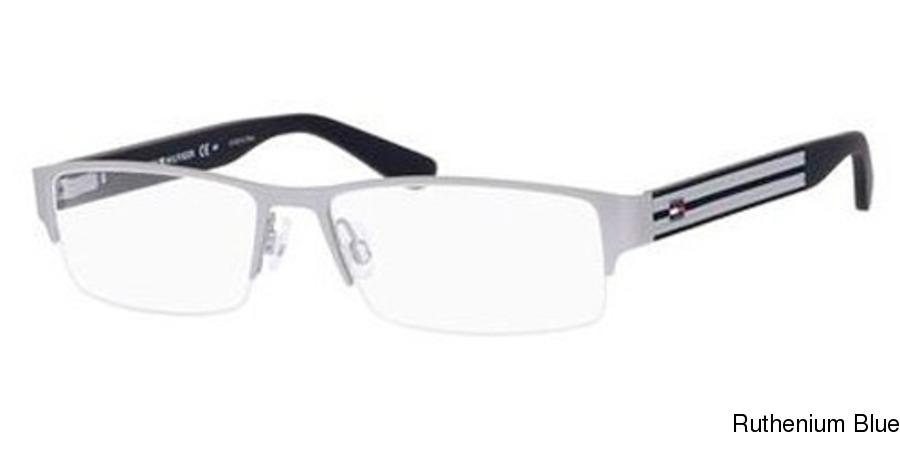 1fbc6eb95e Tommy Hilfiger 1236 Semi Rimless   Half Frame Prescription Eyeglasses