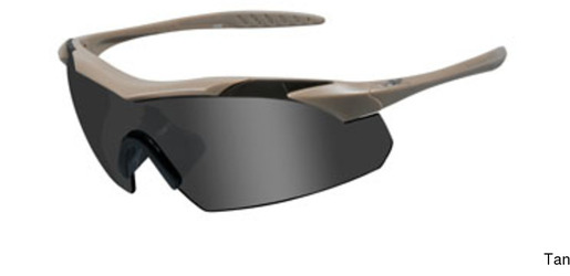 Wiley X Vapor Rx Tan Frame w Grey/Clear Lenses