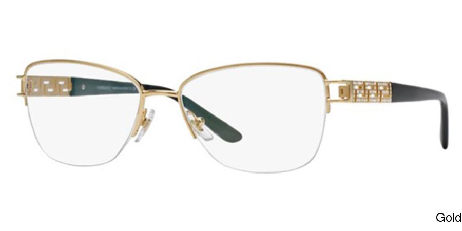 60f2cffa76b5 Versace VE1220B Semi Rimless / Half Frame Prescription Eyeglasses