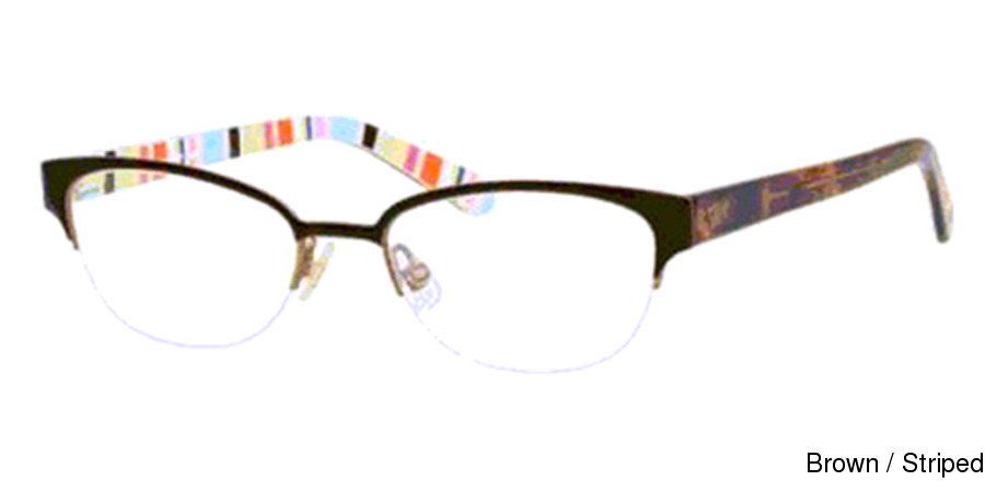 fbd332396f Kate Spade Shayla Semi Rimless   Half Frame Prescription Eyeglasses