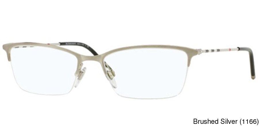 7781dfed471a Burberry BE1278 Semi Rimless   Half Frame Prescription Eyeglasses