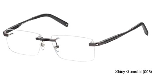 1261a3a2ce Montblanc MB0349 Rimless   Frameless Prescription Eyeglasses