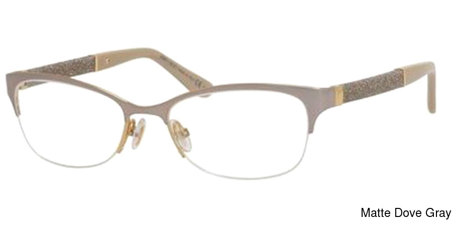 da57fed389d0 Buy Jimmy Choo 106 Semi Rimless   Half Frame Prescription Eyeglasses
