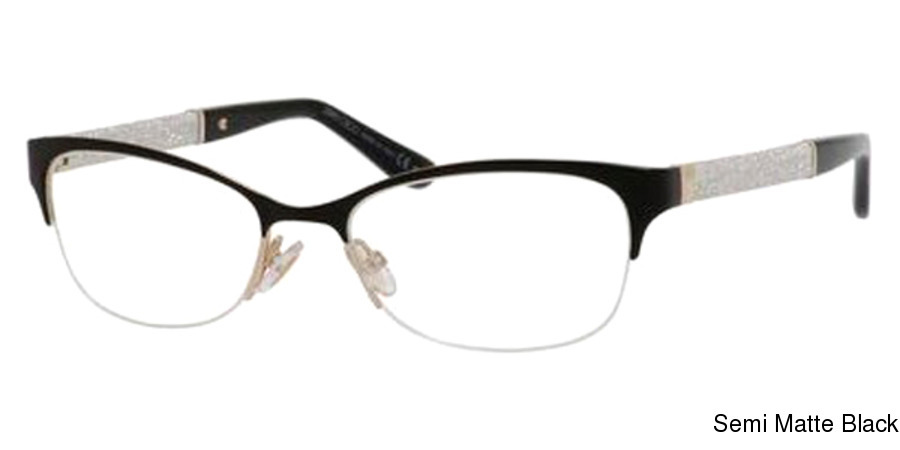 37c2275af5c5 Jimmy Choo 106 Semi Rimless   Half Frame Prescription Eyeglasses