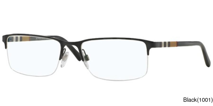 c133970bca2 Burberry BE1282 Semi Rimless   Half Frame Prescription Eyeglasses