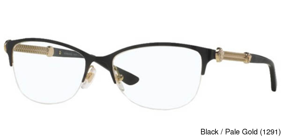 876ba2b651 Versace VE1228 Semi Rimless   Half Frame Prescription Eyeglasses