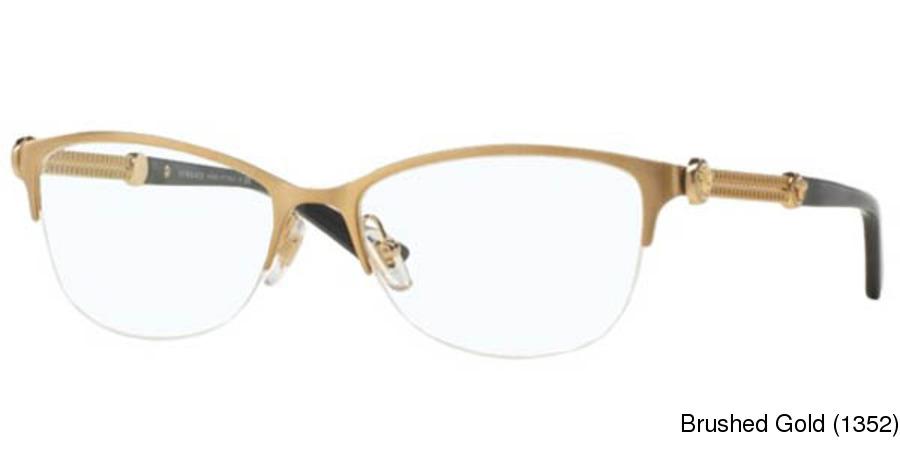 a2b73afb0a9 Versace VE1228 Semi Rimless   Half Frame Prescription Eyeglasses