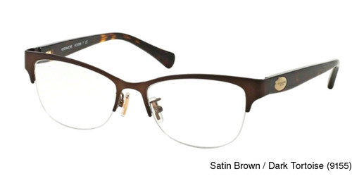 3bb440923bd Coach HC5066 Semi Rimless   Half Frame Prescription Eyeglasses