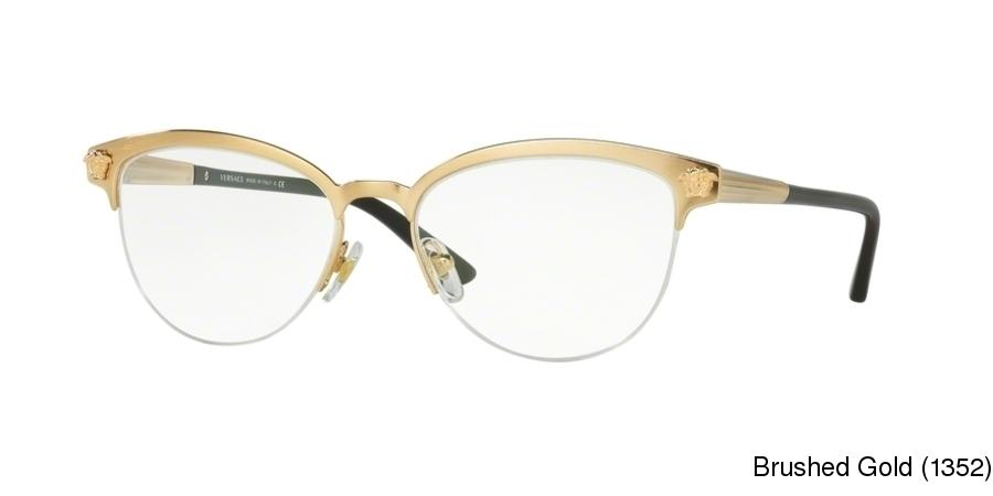 d32572002cd Buy Versace VE1235 Semi Rimless   Half Frame Prescription Eyeglasses