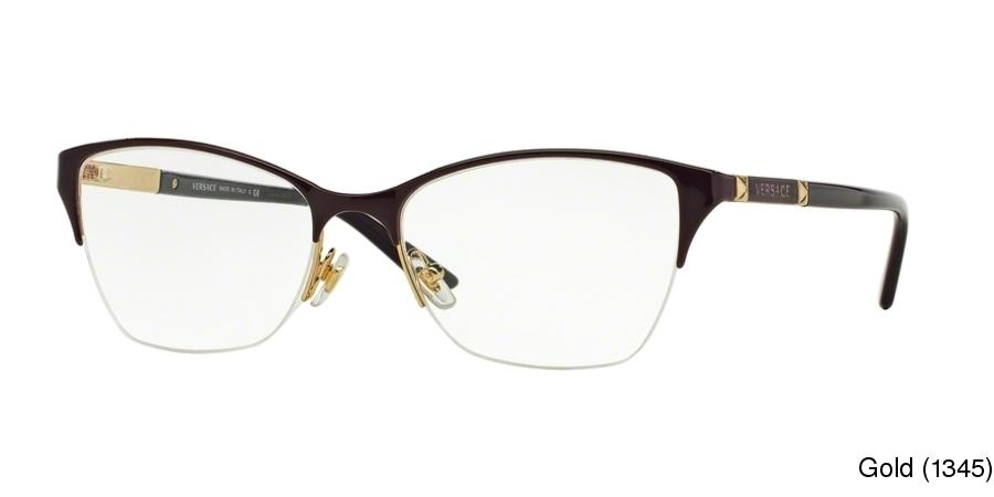 51226e65d79 Versace VE1218 Semi Rimless   Half Frame Prescription Eyeglasses