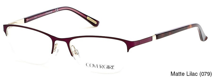 fdbc70f5bb55 Buy Cover Girl CG0533 Semi Rimless / Half Frame Prescription Eyeglasses