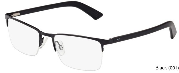 PUMA PU0028O Semi Rimless / Half Frame Prescription Eyeglasses