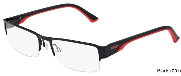 Buy PUMA PU0033O Semi Rimless / Half Frame Prescription Eyeglasses