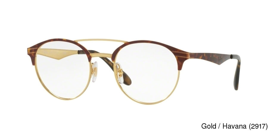 ray ban glasses with gold frame