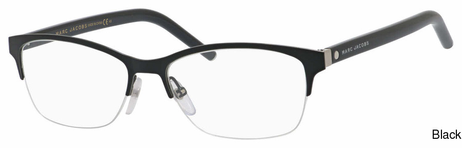 58a30b15702 Marc Jacobs Marc 76 Semi Rimless   Half Frame Prescription Eyeglasses