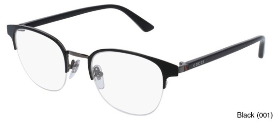 bb1bf65b99 Gucci GG0020O Semi Rimless   Half Frame Prescription Eyeglasses