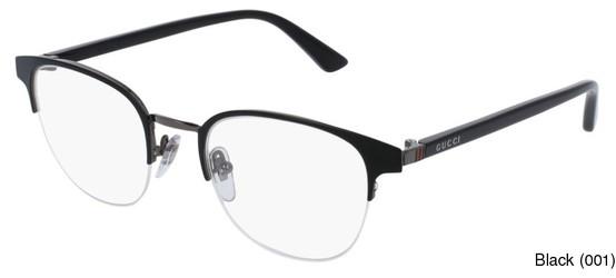 9f261a42e95 Gucci GG0020O Semi Rimless   Half Frame Prescription Eyeglasses