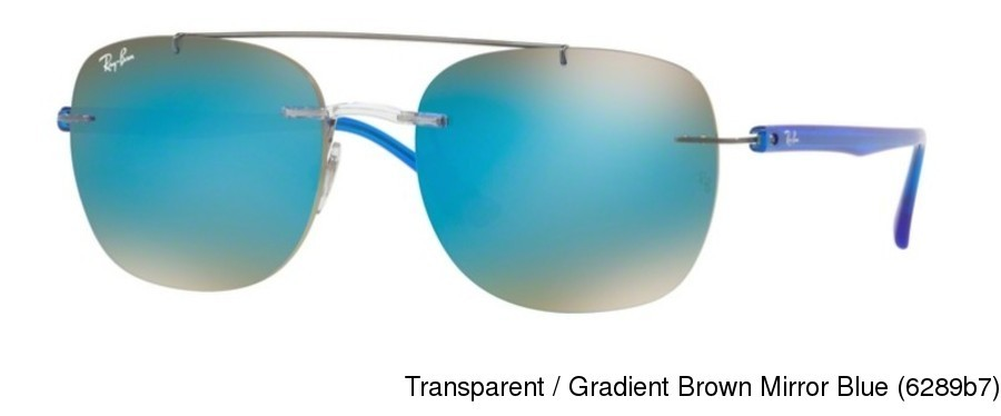 03206a320be Ray Ban RB4280. Transparent   Gradient Brown Mirror Blue (6289b7) ...