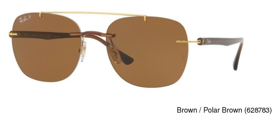 43a46684a9 Ray Ban RB4280 Polarized Rimless   Frameless Prescription Sunglasses