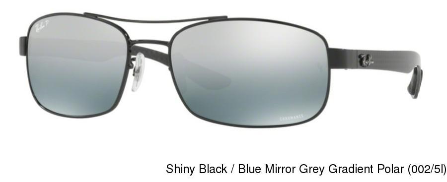072d3af8fb Ray Ban RB8318CH Polarized. Shiny Black   Blue Mirror Grey Gradient Polar  (002 5l) ...