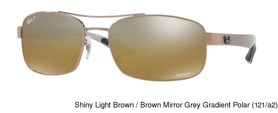 3992a52bd1 ... Shiny Light Brown   Brown Mirror Grey Gradient Polar (121 a2). Ray Ban  RB8318CH Polarized