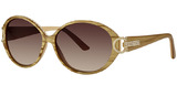 Gold With Clear Crystals With Brown Lens (21)