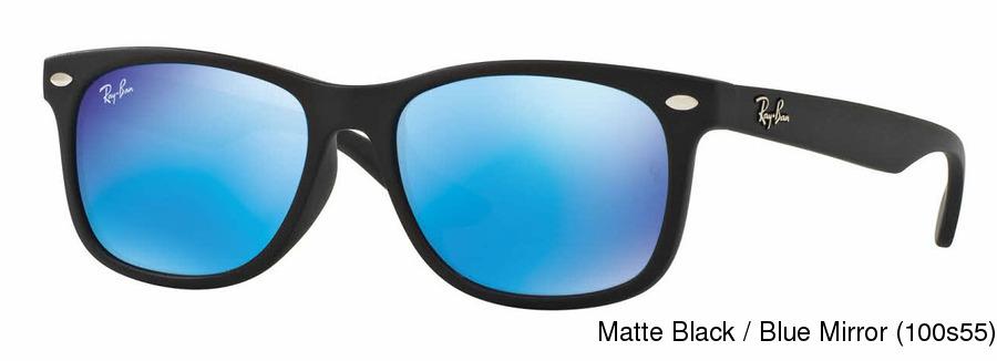 cb3e23df220 Ray Ban Junior RJ9052SF Mirror. Matte Black   Blue Mirror (100s55) ...
