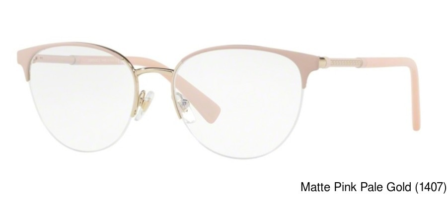 cb1a056b272 Buy Versace VE1247 Semi Rimless   Half Frame Prescription Eyeglasses