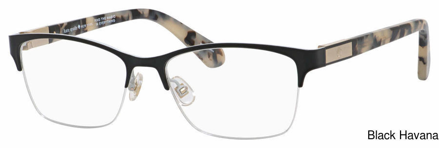 e231a2c56653 Kate Spade Glorianne Semi Rimless / Half Frame Prescription Eyeglasses