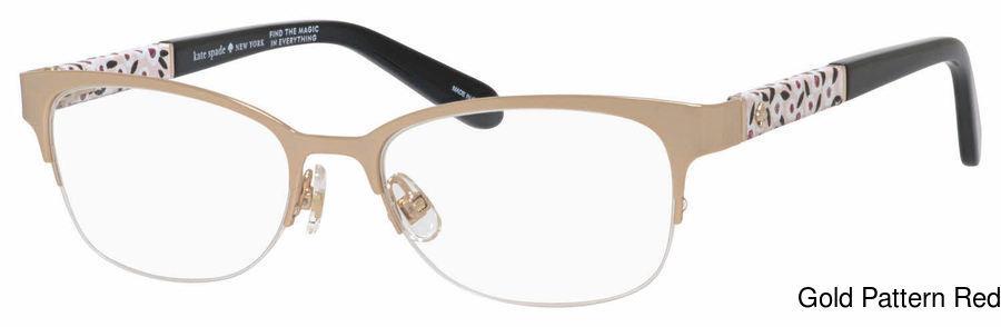 43beb4f9a53 Kate Spade Valary Semi Rimless   Half Frame Prescription Eyeglasses