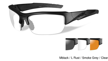 Wiley X Valor w Clear/Grey/Rust Lens Set