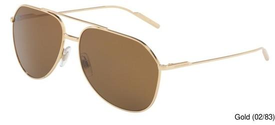 00554e14624 Dolce Gabbana DG2166 Polarized Full Frame Prescription Sunglasses