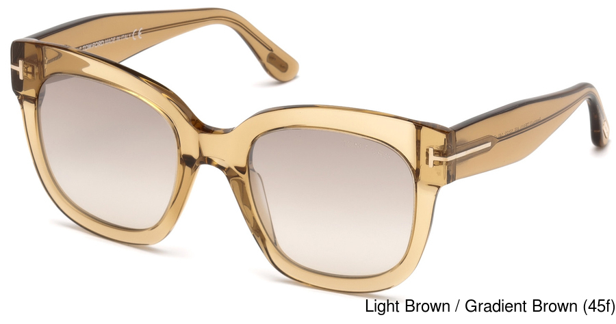 93a8f53200 Tom Ford FT0613 Beatrix. Light Brown   Gradient Brown (45f) ...