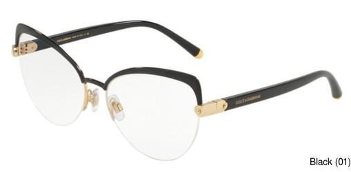 76f04377b11c Dolce Gabbana DG1305 Semi Rimless / Half Frame Prescription Eyeglasses
