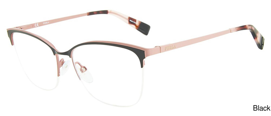 24a700b17b9 Furla VFU184 Semi Rimless   Half Frame Prescription Eyeglasses
