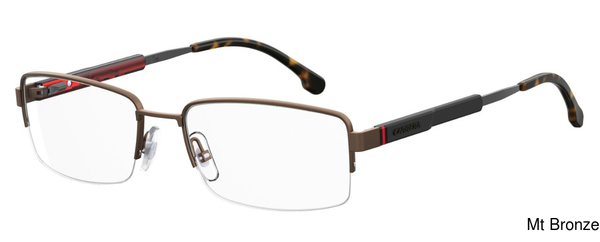 Carrera 8836 Semi Rimless Half Frame Prescription Eyeglasses