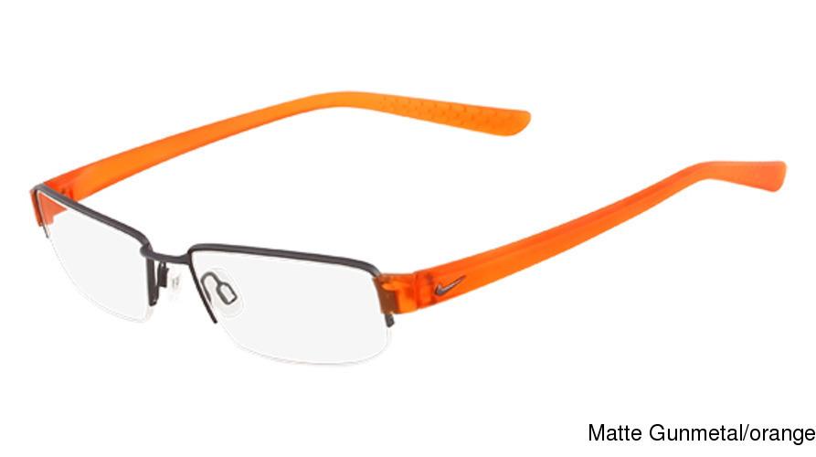 Nike 8064 Semi Rimless / Half Frame Prescription Eyeglasses